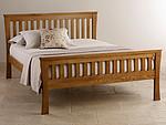 Orrick Rustic Solid Oak King-Size Bed