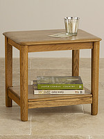 Osaka Rustic Solid Oak Side Table