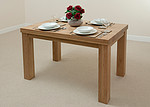 "Contemporary Chunky 4ft x 2ft 6"" Oak Dining Table"