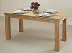 "Contemporary Chunky 5ft x 2ft 6"" Oak Dining Table"