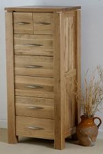 Galway Solid Oak Tall Chest of Drawers