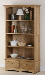 Cairo Solid Oak Tall Bookcase