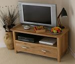 Newark Solid Oak Corner TV + DVD Cabinet