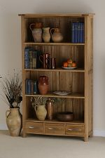 Newark Solid Oak Tall Bookcase