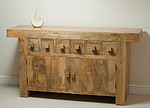 Mantis Light Solid Mango 6 Drawer Sideboard