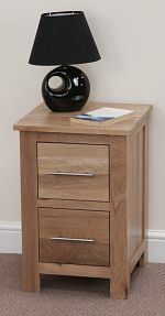 Rivermead Solid Oak 2 Drawer Bedside Chest