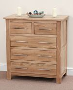 Rivermead Solid Oak 5 Drawer Chest