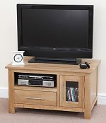 Rivermead Solid Oak TV + DVD Cabinet