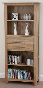 Rivermead Solid Oak Bookcase / Storage Unit