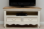 French Shabby Chic Solid Mango TV Cabinet