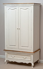 French Shabby Chic Solid Mango Double Wardrobe