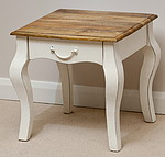 French Shabby Chic Solid Mango Lamp Table