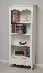 French Shabby Chic Solid Mango Large Bookcase