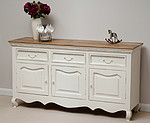 French Shabby Chic Solid Mango Large Sideboard