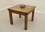 3ft x 3ft Rustic Solid Oak Extending Dining Table (Seats up to 6 people Extended)