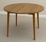 Rustic Solid Oak Round Bistro Dining Table