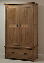 Rustic Solid Oak Wardrobe 