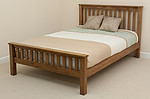 "Rustic Solid Oak 4ft 6"" Double Bed"