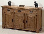 Rustic Solid Oak Large Sideboard
