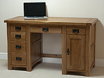 Rustic Solid Oak Computer Desk