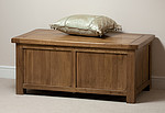 Original Rustic Solid Oak Storage Box