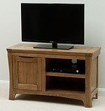 Orrick Rustic Solid Oak TV + DVD Cabinet
