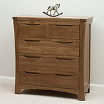 Orrick Rustic Solid Oak 3+2 Drawer Chest