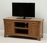 Orrick Rustic Solid Oak Widescreen TV and DVD Cabinet