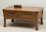 Orrick Rustic Solid Oak 4 Drawer Coffee Table