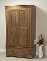 French Farmhouse Solid Oak Wardrobe