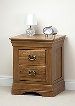 French Farmhouse Solid Oak Bedside Chest
