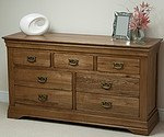 French Farmhouse Solid Oak 3+4 Drawer Chest