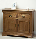 French Farmhouse Solid Oak Small Sideboard