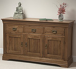 French Farmhouse Solid Oak Large Sideboard