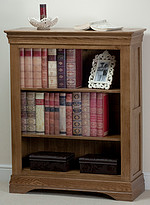 French Farmhouse Solid Oak Wide Bookcase