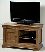 French Farmhouse Solid Oak Small TV Cabinet