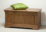 French Farmhouse Solid Oak Blanket Box