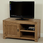 Quercus Solid Oak TV + DVD Cabinet
