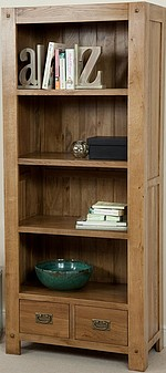 Quercus Solid Oak Tall Bookcase