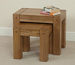 Quercus Solid Oak Nest of 2 Tables