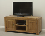 Quercus Solid Oak Widescreen TV Cabinet