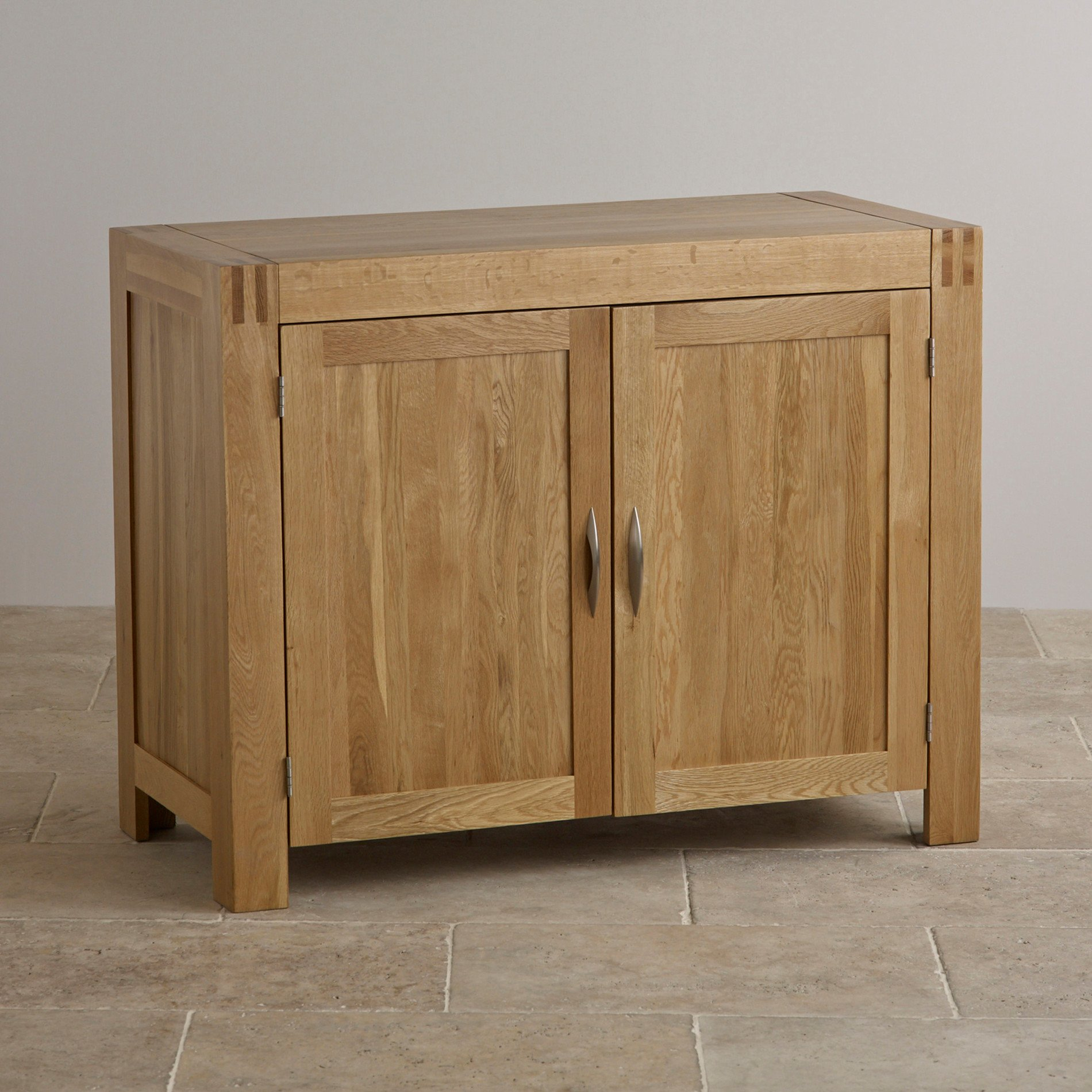 Alto natural solid oak small sideboard oak furniture land for Oak furniture land