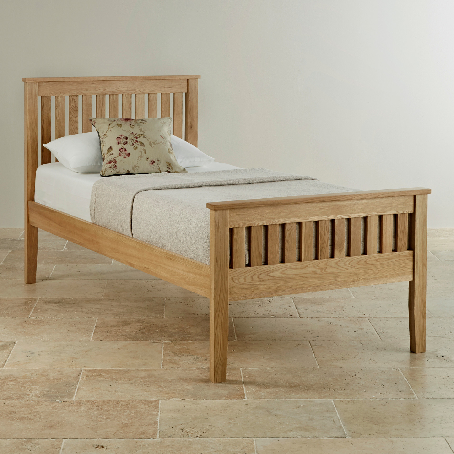 cairo natural solid oak single bed bedroom furniture. Black Bedroom Furniture Sets. Home Design Ideas