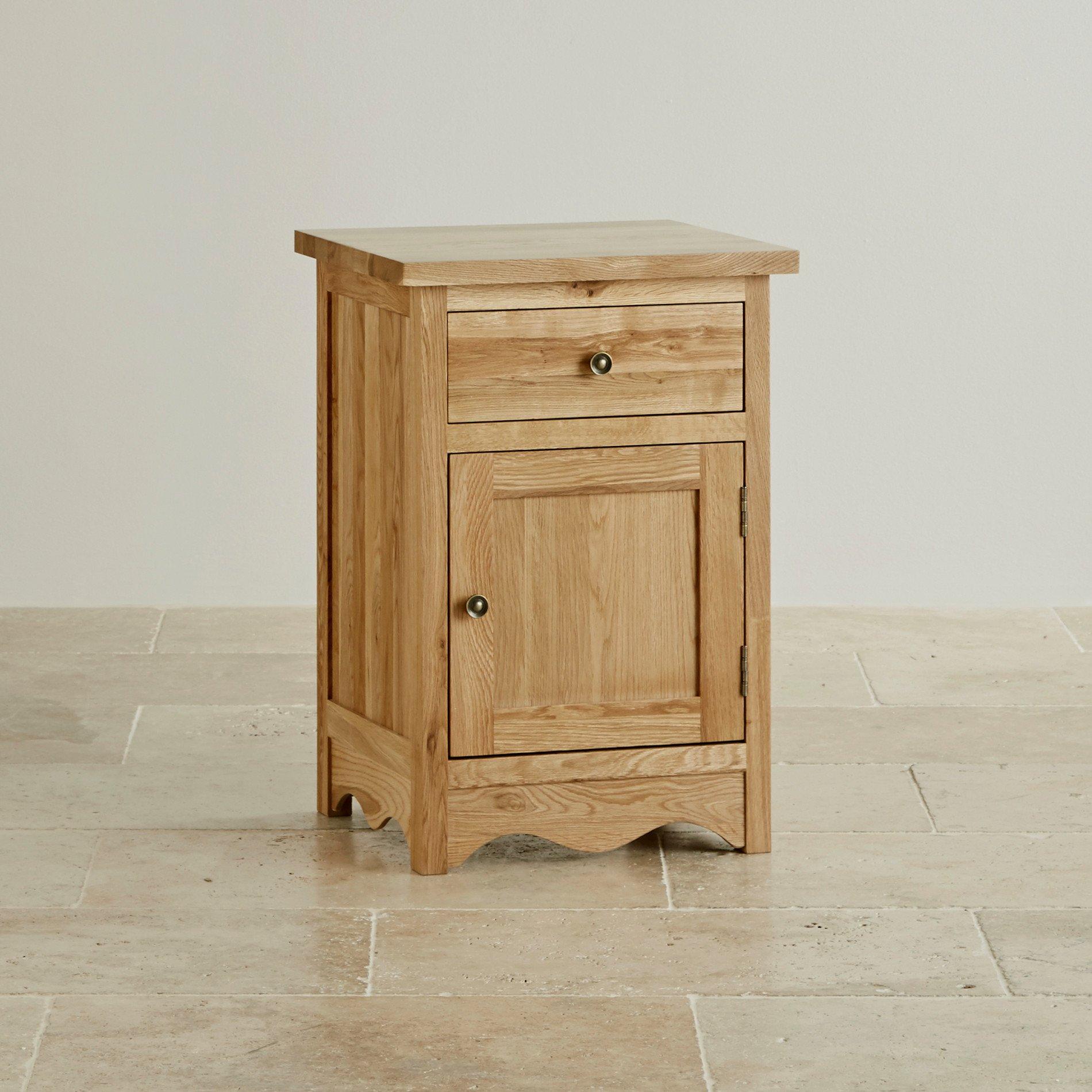 Cairo Natural Solid Oak Bedside Cabinet