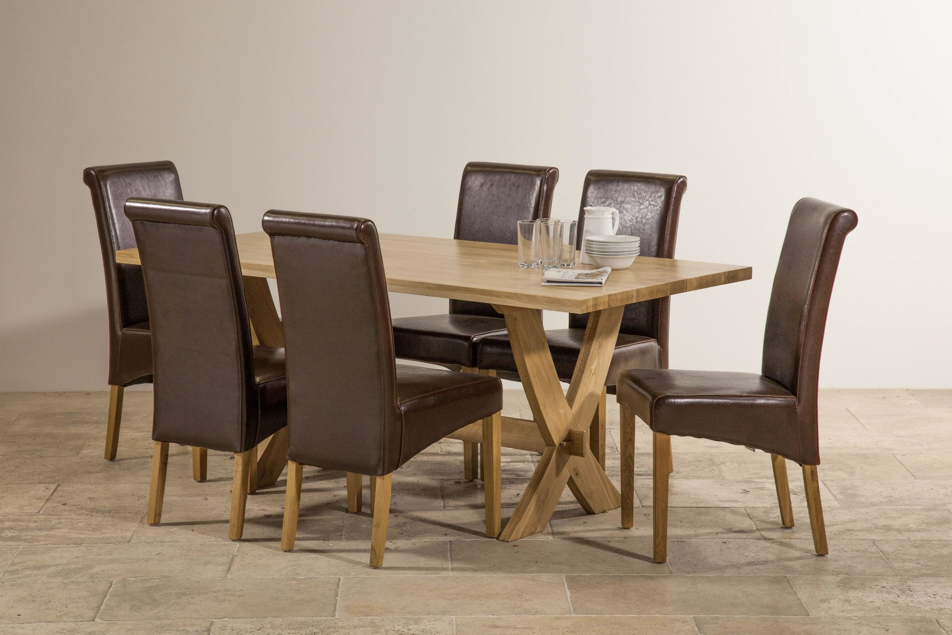 Crossley Solid Oak Dining Set