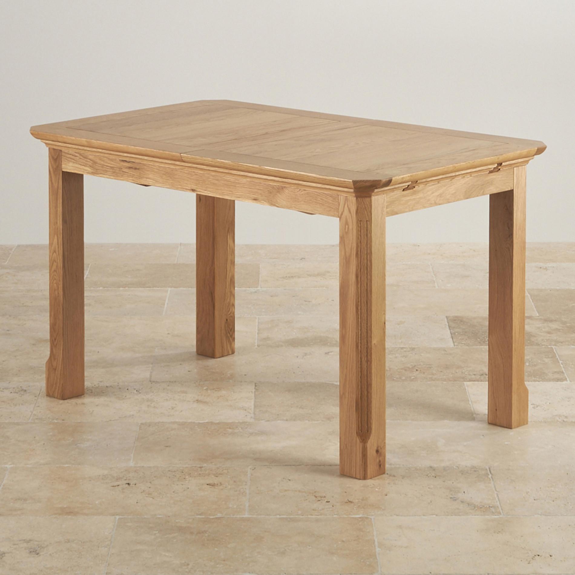 Edinburgh Natural Oak 4ft 3 X 3ft Extending Dining Table
