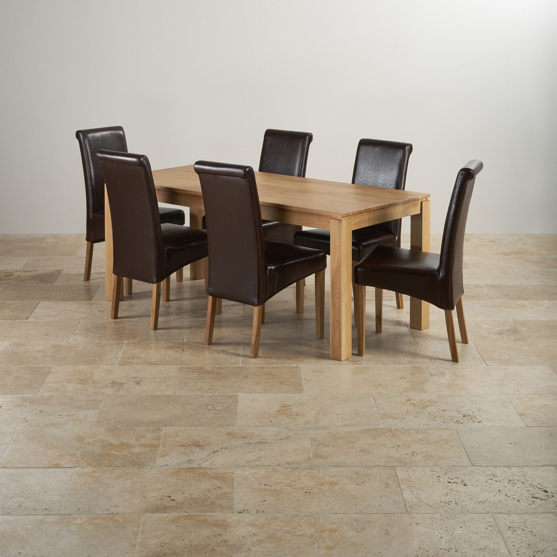 Provence Natural Solid Oak Dining Set: Galway Natural Solid Oak Dining Set