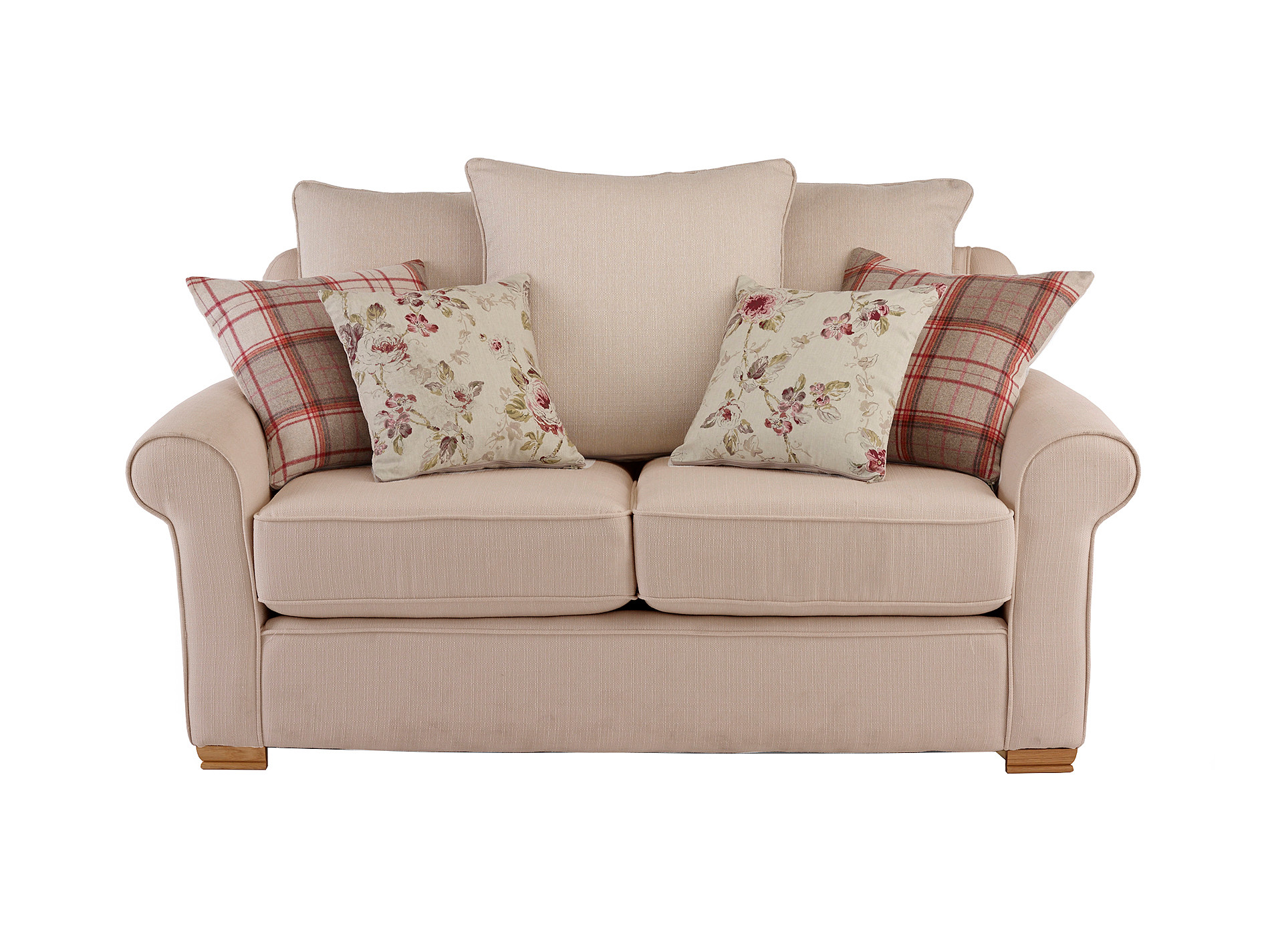 Hexham Carrie Medium Sofa With Pillow Back In Beige With