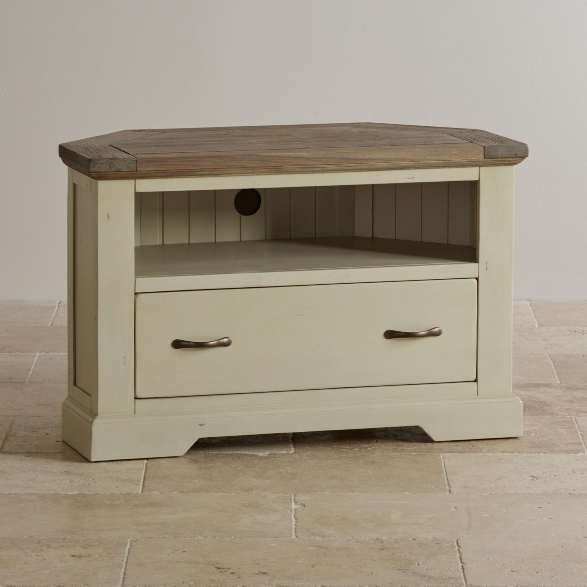 isabella painted acacia corner tv cabinet. Black Bedroom Furniture Sets. Home Design Ideas