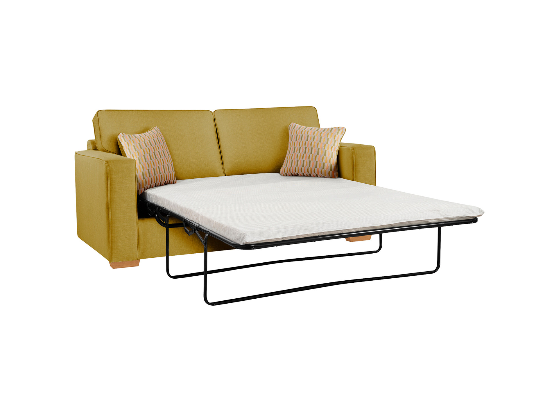 Jasper large sofa bed with standard mattress in costa lime for Sofa bed 180cm